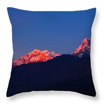 Annapurna South Massif Throw Pillow