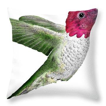 Annas Hummingbird Throw Pillow by Roger Hall