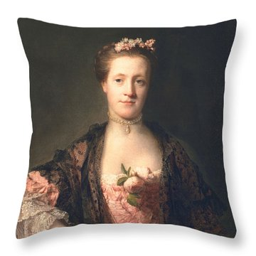 Anne Garth-turnour, Baroness Winterton Throw Pillow by Allan Ramsay