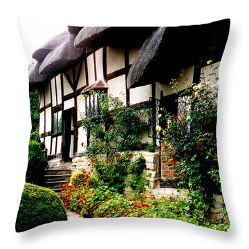 Anne Hathaway's Cottage Throw Pillow