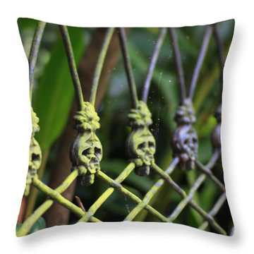 Throw Pillow featuring the photograph Anne Rice Fence by Heather Green