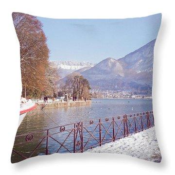 Annecy Fairytale. France Throw Pillow by Jenny Rainbow