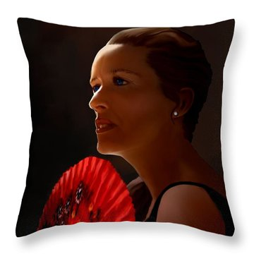 Throw Pillow featuring the painting Annette Of The Night by Jann Paxton