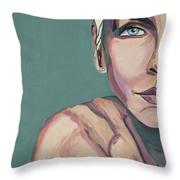 Annie Lennox Talk To Me Throw Pillow