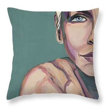 Annie Lennox Talk To Me Throw Pillow