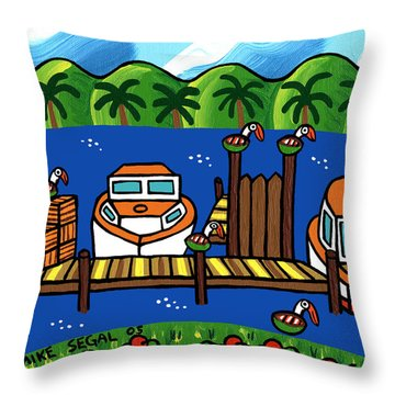 Annie's Dock - Cedar Key Throw Pillow