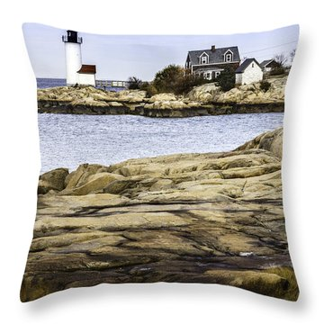Throw Pillow featuring the photograph Annisquam Light by Betty Denise