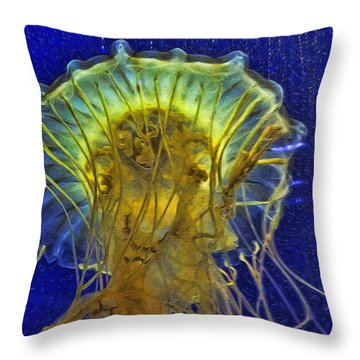Another Abstract Jellyfish Throw Pillow