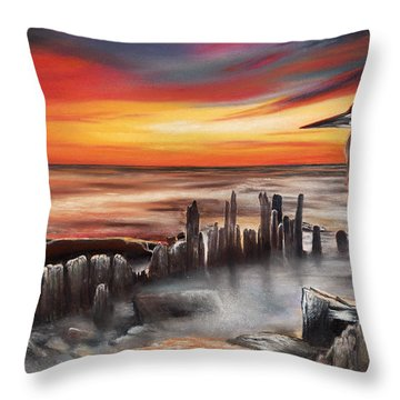 Another Bloody Sunset Throw Pillow