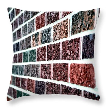 Throw Pillow featuring the photograph Another Brick In The Wall by Deena Stoddard