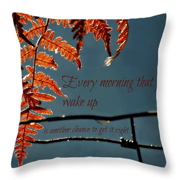 Another Chance Throw Pillow
