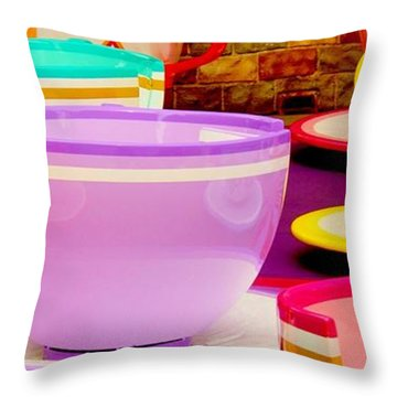 Throw Pillow featuring the photograph Another Cup Of Tea by Benjamin Yeager