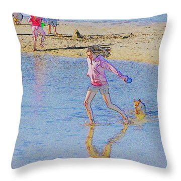 Another Day At The Beach Throw Pillow