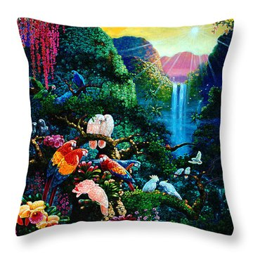 Another Day In Paradise - Digital 2 Throw Pillow