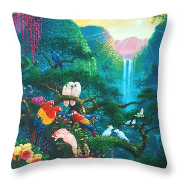 Another Day In Paradise Throw Pillow