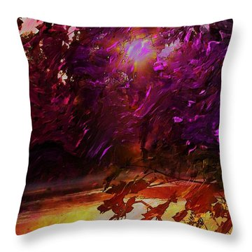 Throw Pillow featuring the digital art Another Day Is Done by Steven Lebron Langston