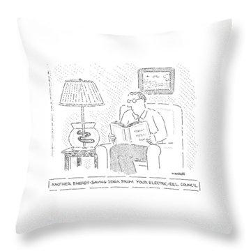 Another Energy-saving Idea From Your Electric-eel Throw Pillow