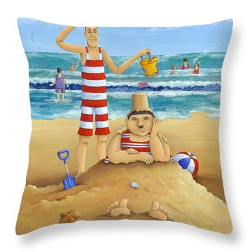 Another Fine Mess Throw Pillow by Peter Adderley