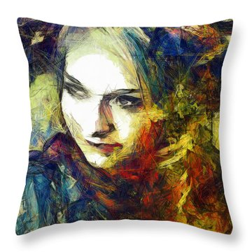 Throw Pillow featuring the drawing Another Lonely Day by Joe Misrasi