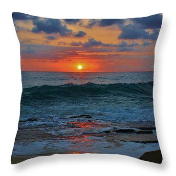 Another Ma'ili Sunset  Throw Pillow