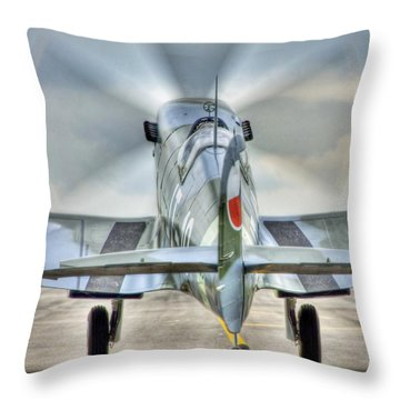 Throw Pillow featuring the photograph Another Mission by Jeff Cook