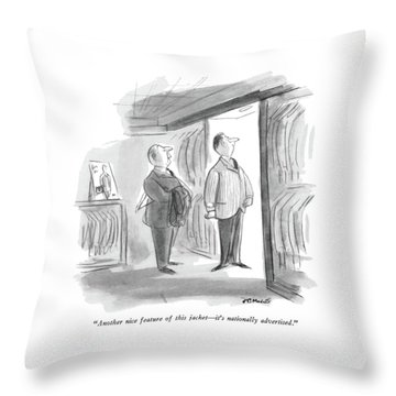 Another Nice Feature Of This Jacket - It's Throw Pillow