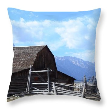 Another Old Barn Throw Pillow by Kathleen Struckle