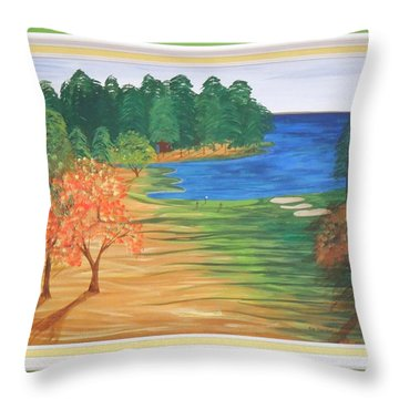 Another Sunday Morning Throw Pillow