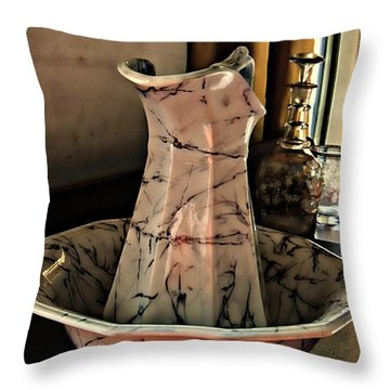 Another Time Throw Pillow by Marcia Lee Jones