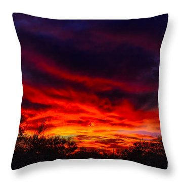 Another Tucson Sunset Throw Pillow by Mark Myhaver