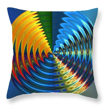 Another Wheel Of Life Throw Pillow