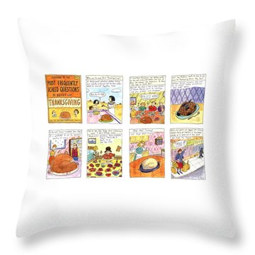 Answers To The Most Frequently Asked Questions Throw Pillow