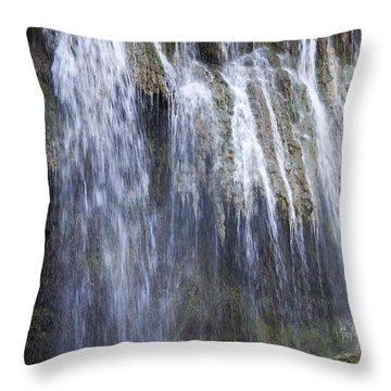 Antalya's Waterfalls Throw Pillow