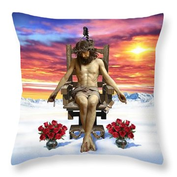 Antarctica Throw Pillow