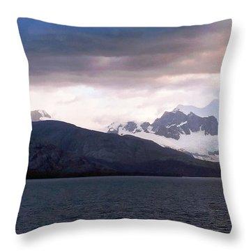 Antarctica Throw Pillow by Vicky Tarcau