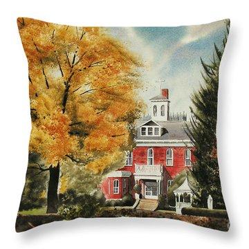 Antebellum Autumn Ironton Missouri Throw Pillow