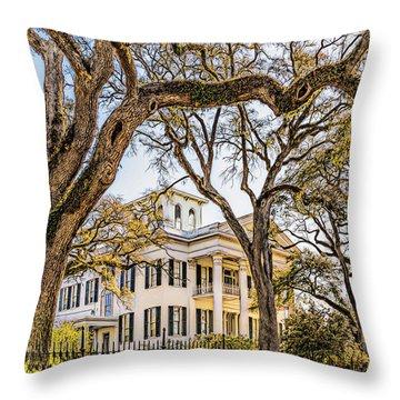 Antebellum Mansion Throw Pillow