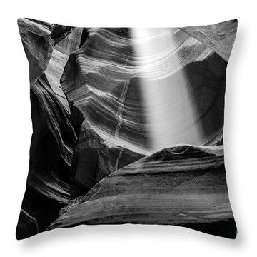 Antelope Canyon Beam 2 Throw Pillow