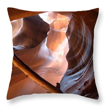 Antelope Canyon Throw Pillow by Dany Lison