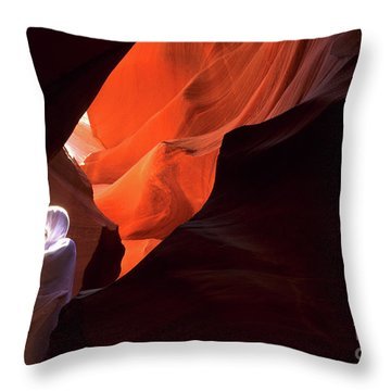 Antelope Canyon Keeper Of The Light Throw Pillow by Bob Christopher
