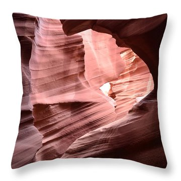 Antelope Canyon Page Az Throw Pillow