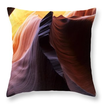 Antelope Canyon Pages Of Time Throw Pillow by Bob Christopher