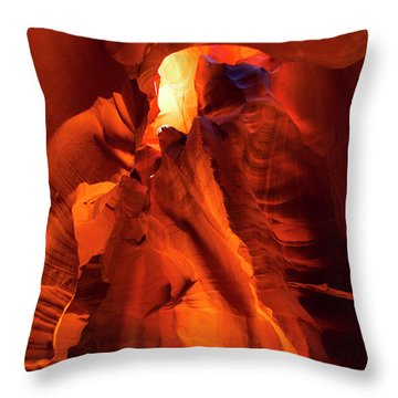 Throw Pillow featuring the photograph Antelope Canyon by Tom Kelly