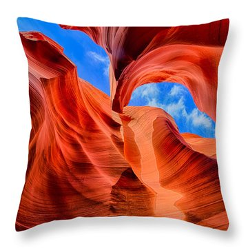 Antelope Canyon Walls Throw Pillow by Greg Norrell