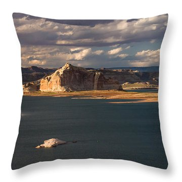 Antelope Island At Sunset Throw Pillow