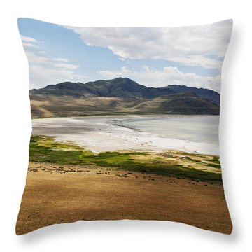 Antelope Island Throw Pillow by Belinda Greb