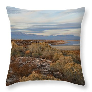 Throw Pillow featuring the photograph Antelope Island - Scenic View by Ely Arsha