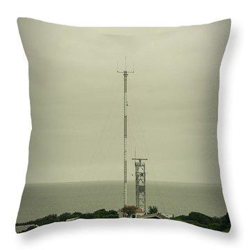 Antenna Throw Pillow by Marco Oliveira