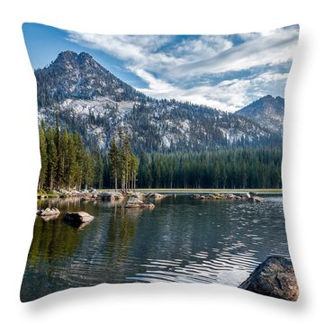 Anthony Lake Throw Pillow by Robert Bales