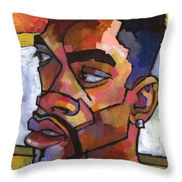 Anthony Waiting In The Car Throw Pillow by Douglas Simonson